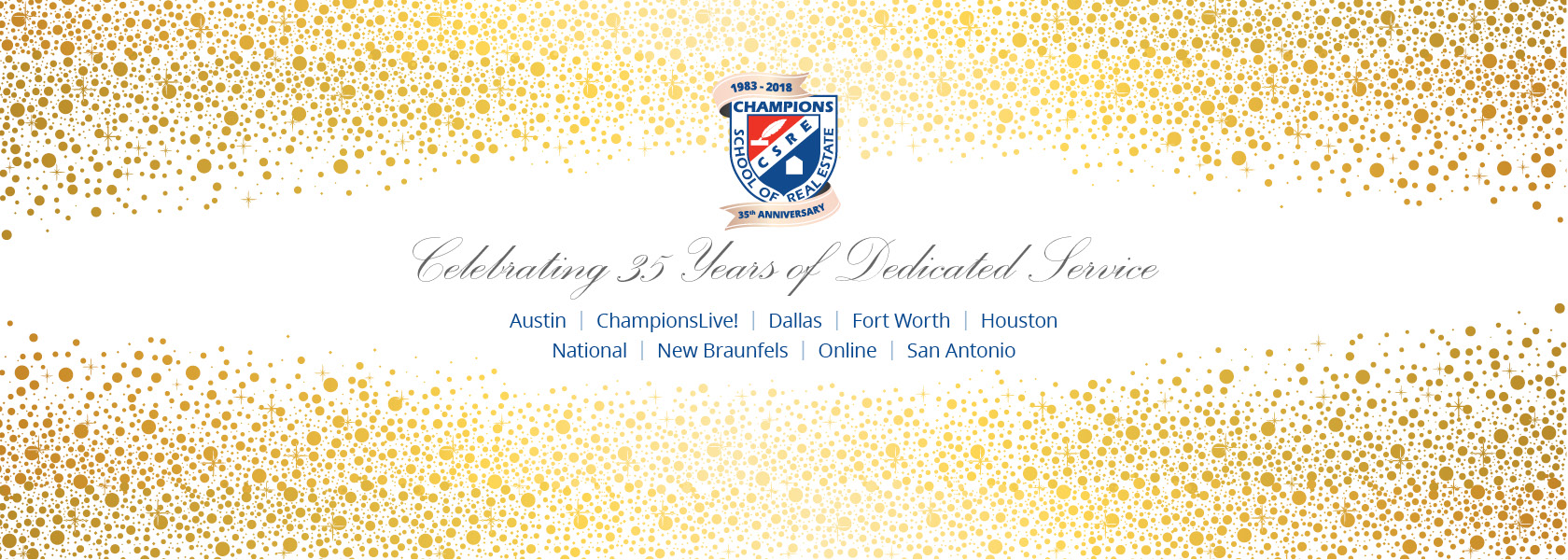 35 Years Celebration Banner