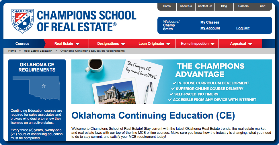 New Oklahoma Course Offerings - Screenshot